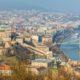 aerial views to budapest city, hungary
